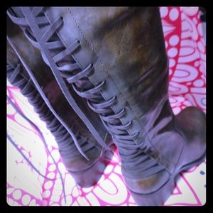 Knee high industrial boots